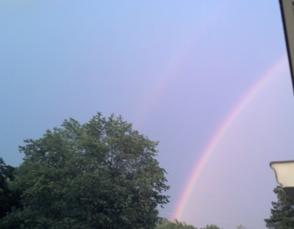 The same double rainbow, slightly different view